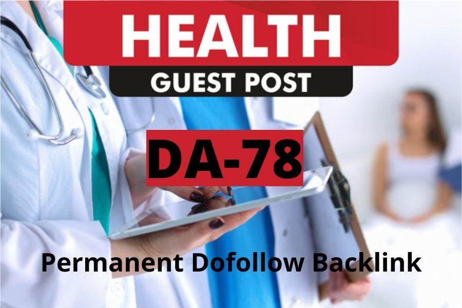 I will publish article on my DA78 health blog