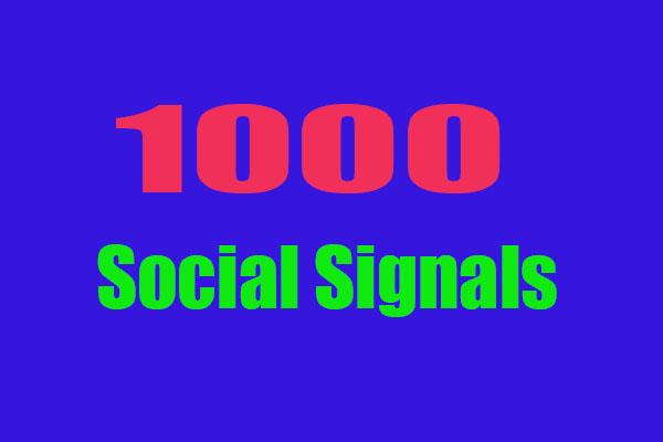 Top Powerful 1000 Permanent SEO Social Signals