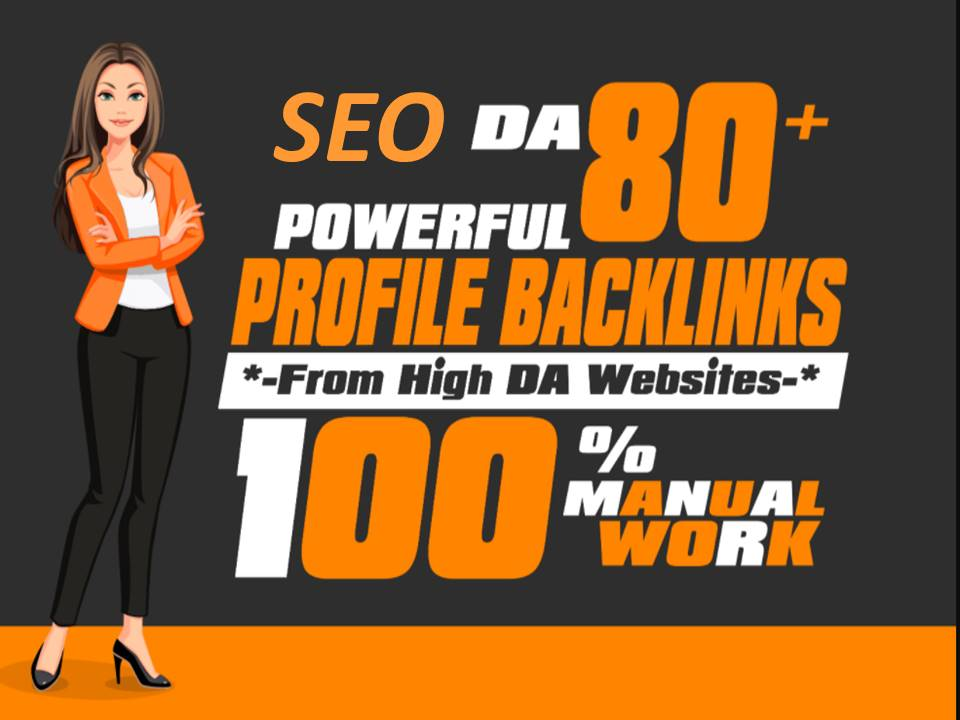 I will Do 100 high quality profile backlinks manually seo link building