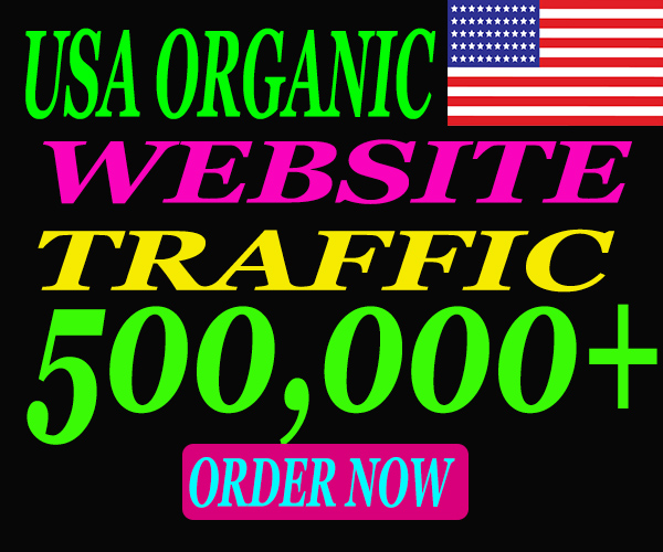 I will drive 500k safe and Real Top-Quality traffic to your website from USA.