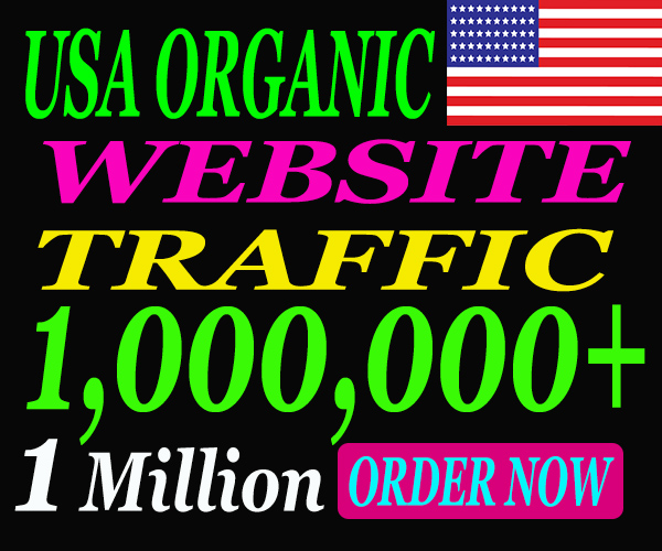I will drive 1 Million Real High Quality visitors from USA Within 15 days.