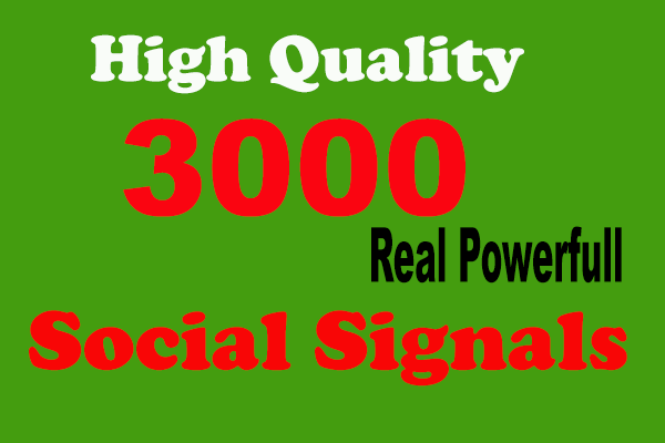 3000 High-Quality Social Signals Quality From the sole Social media Website.