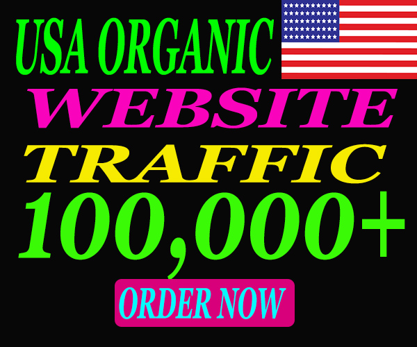 I will send low bounce organic web traffic from USA.
