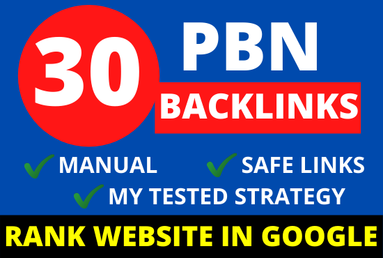30 pbn backlinks permanent homepage post from high metrics websites for google top ranking