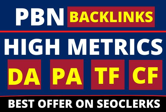 30 PBN Backlinks high da pa + Homepage dofollow backlinks