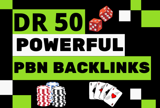 I will provide 80 Casino,  Poker,  Gambling and Betting pbn backlinks from DR 50+ for ranking