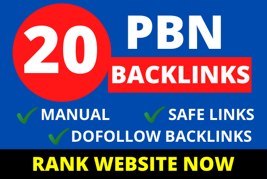 20 pbn backlinks from high da dr tf websites for boost ranking in google