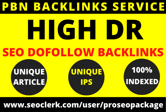 Build 10 high DR pbn backlinks from authority websites for seo ranking