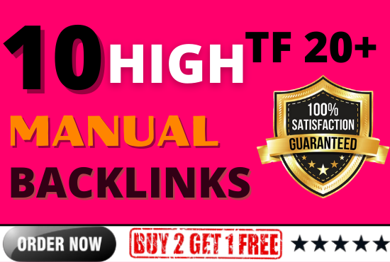 I will build 10 PBN Backlinks on High TF 20+ for boost ranking