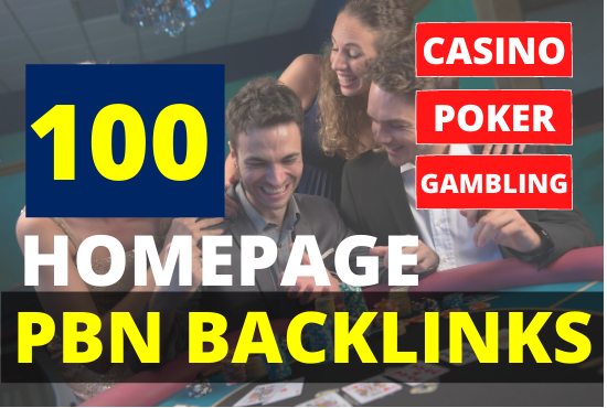 Get 100 PBN Backlinks high DA 55+ Casino Poker Betting Gambling Judi