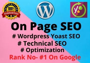 I will do Wordpress onpage SEO service with yoast premium,  without any error