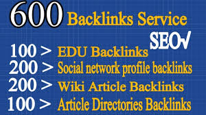 I will do100 EDU,  200Social Networks profile,  200 Wiki ariticles,  100 Article directories Backlinks