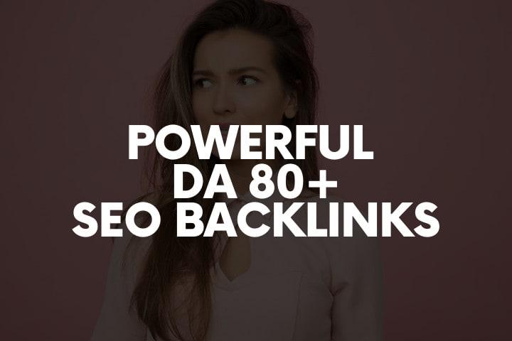 I will do 40 powerful high da80 SEO link building backlinks