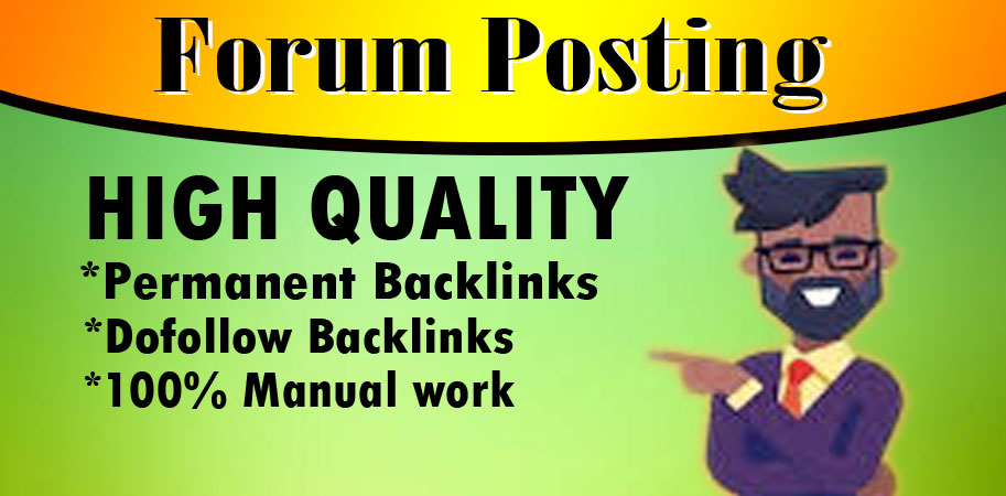provide 40+ dofoll0w forum posting backlink on high DA PA
