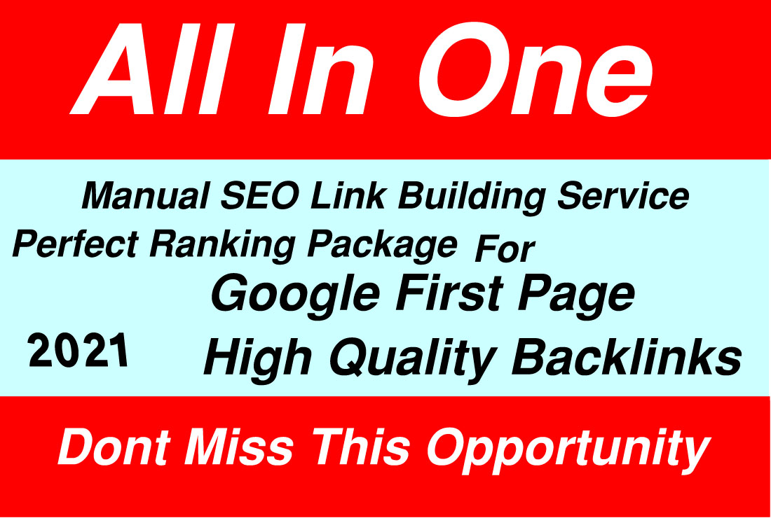 Rank Your Website upon Google 1st Page And high Traffic Monthly Manual SEO Service