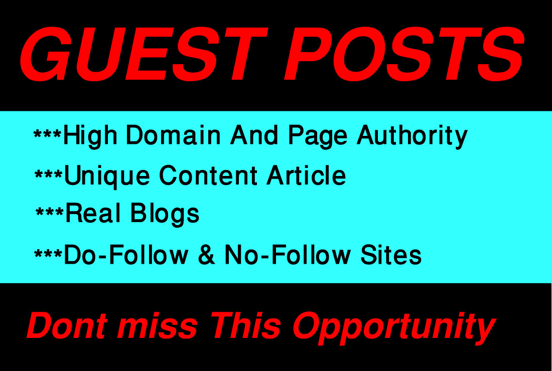 I will write and publish 3 guest Posts on high da sites.