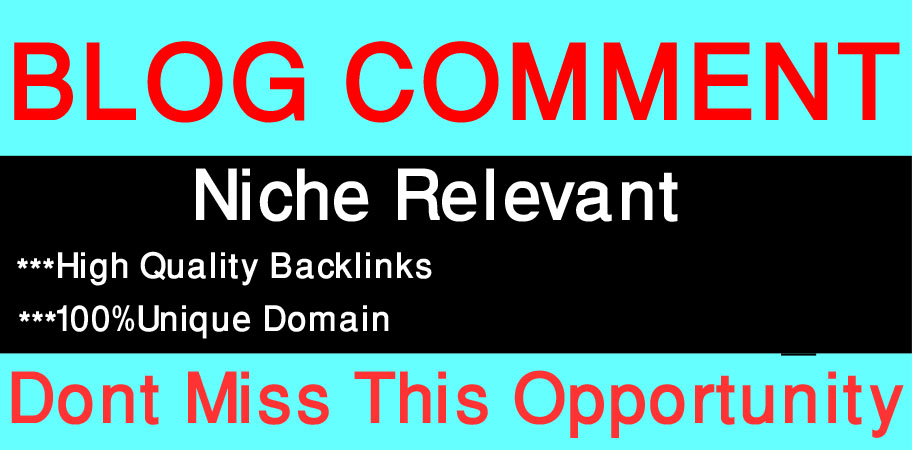 I Will Create 50 Niche Relevant Blog Comments Backlinks On High-Quality Sites.