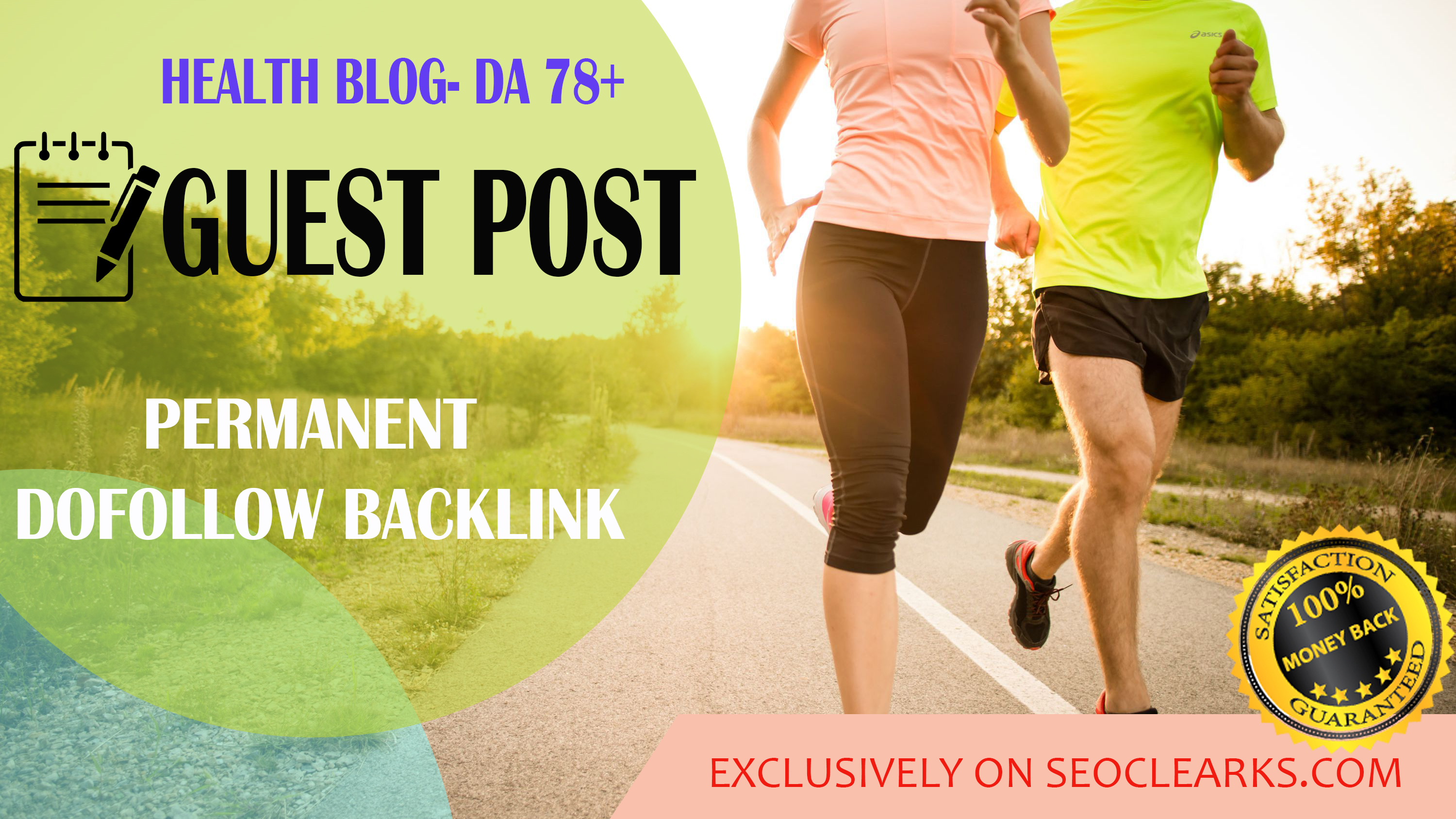I will publish guest post on my 78 DA health blog