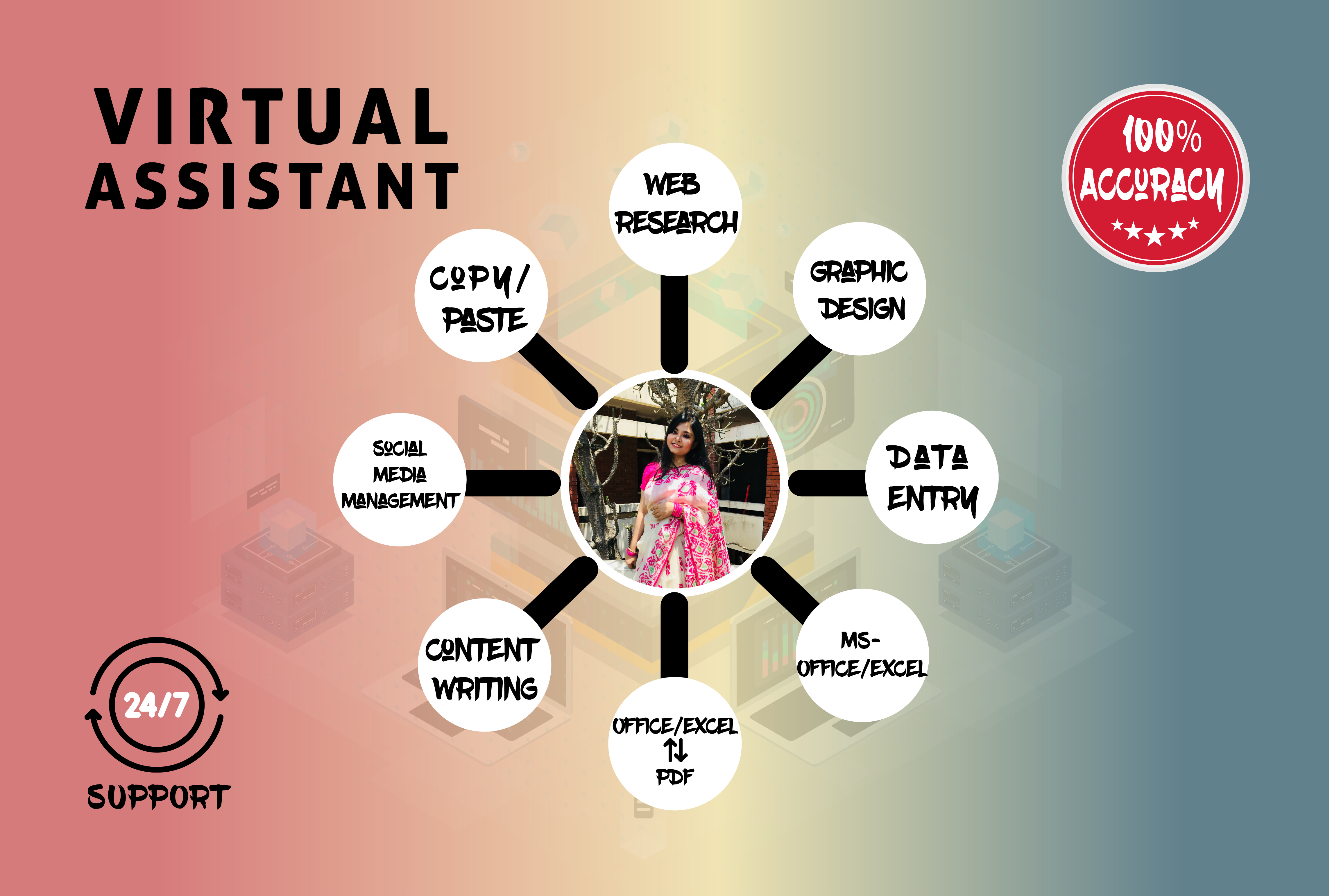 I will be your reliable virtual assistant for data entry & data mining