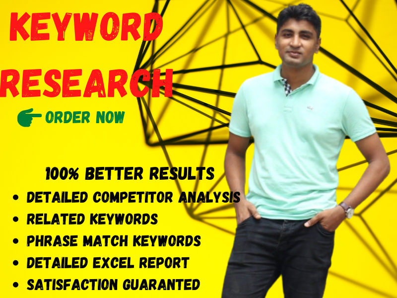 I will do best SEO keyword research and competitor analysis.