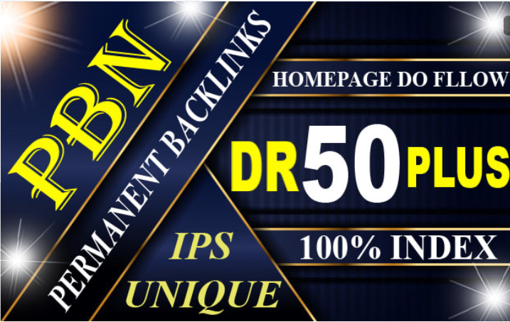 Get 3 DR 50+Homepage High Quality PBN Backlink