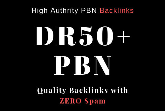 I will Create 6 DR 50+ UNIQUE HOMEPAGE PBN backIinks.