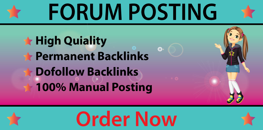 I will provide 50 forum posting backlinks on high DA PA