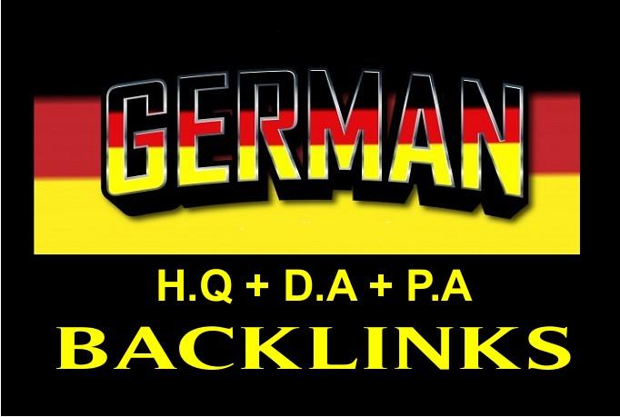 I will build high quality German dofollow SEO backlinks link building google top ranking