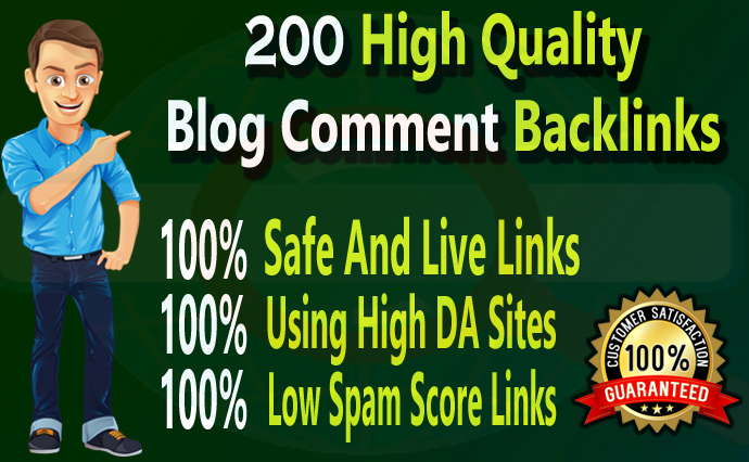 I Will Create 200 High Quality Blog Comment Backlinks