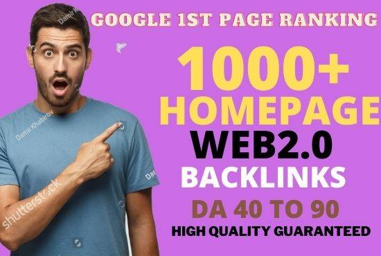 Get Powerfull 1000 parmanent Backlink and PBN with High DA 40+ PA35+ on your Homepage with unique we