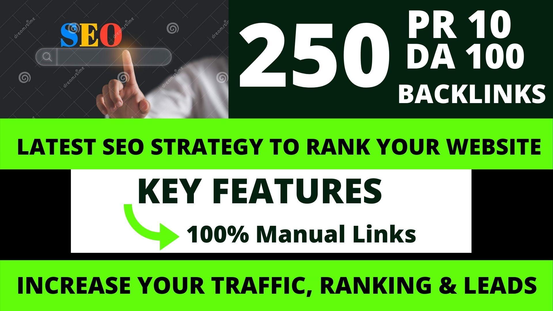Permanent 250 powerful SEO,  Backlink, PBN High-Quality Web2.0 Backlinks