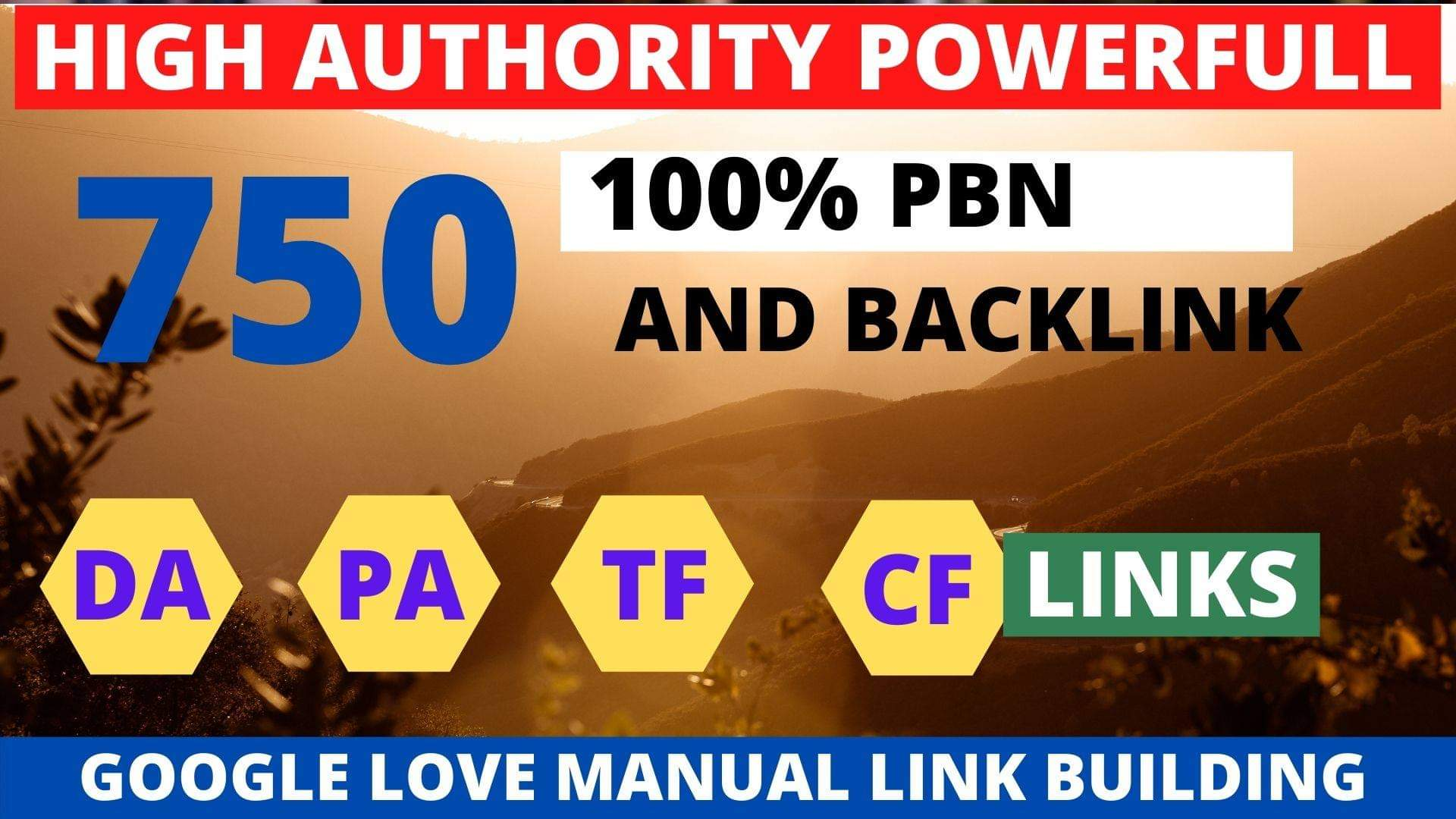Get powerfull 750+ pbn backlink with high DA/PA/TF/CF on your homepage with unique website