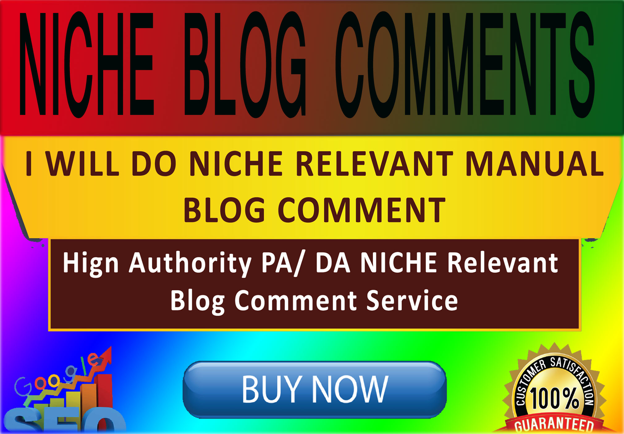 I Will Create 100 Niche Relevant Blog Comments Backlinks On High DA