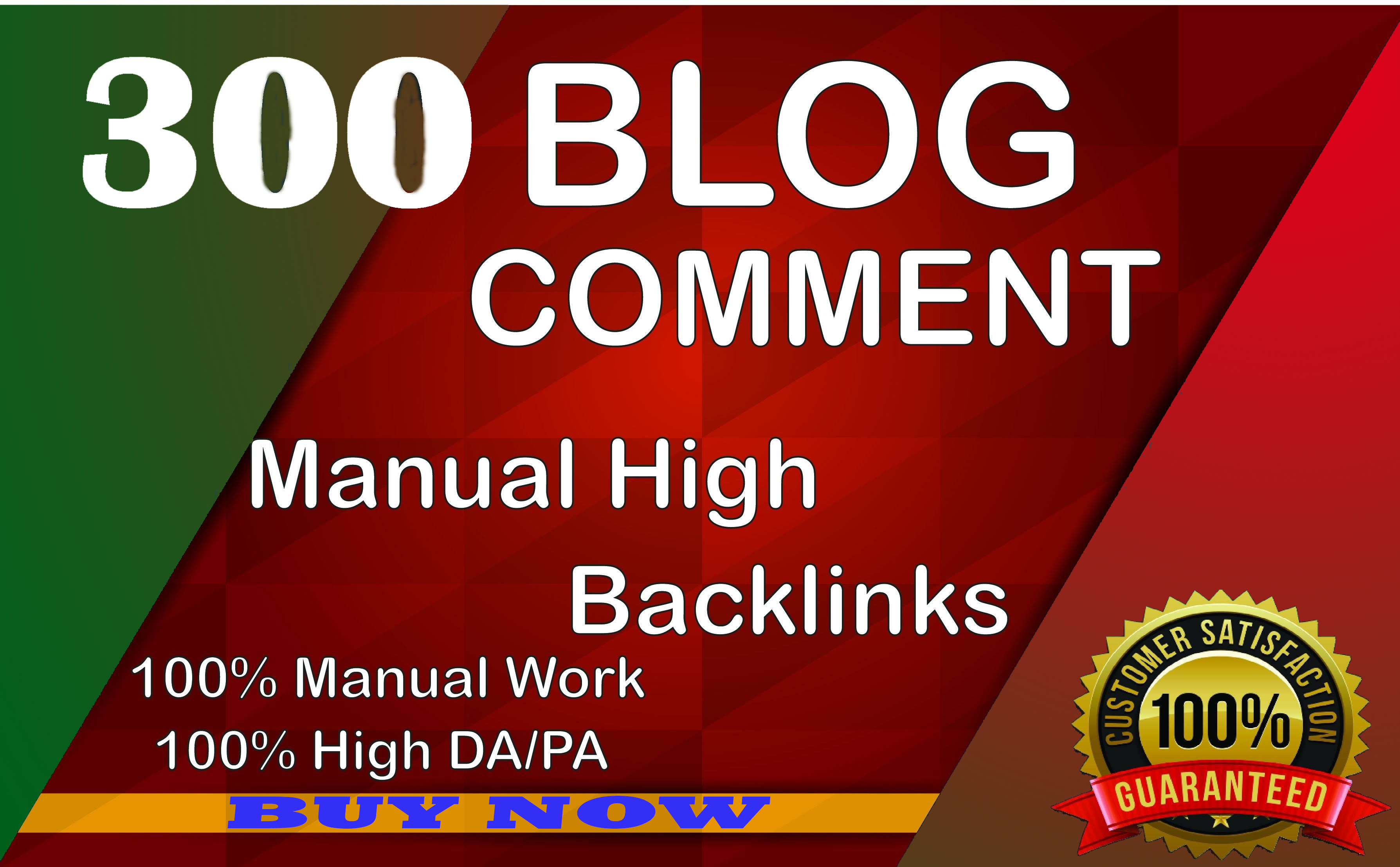 I will Create 125 Dofollow Blog Comments almost high DA