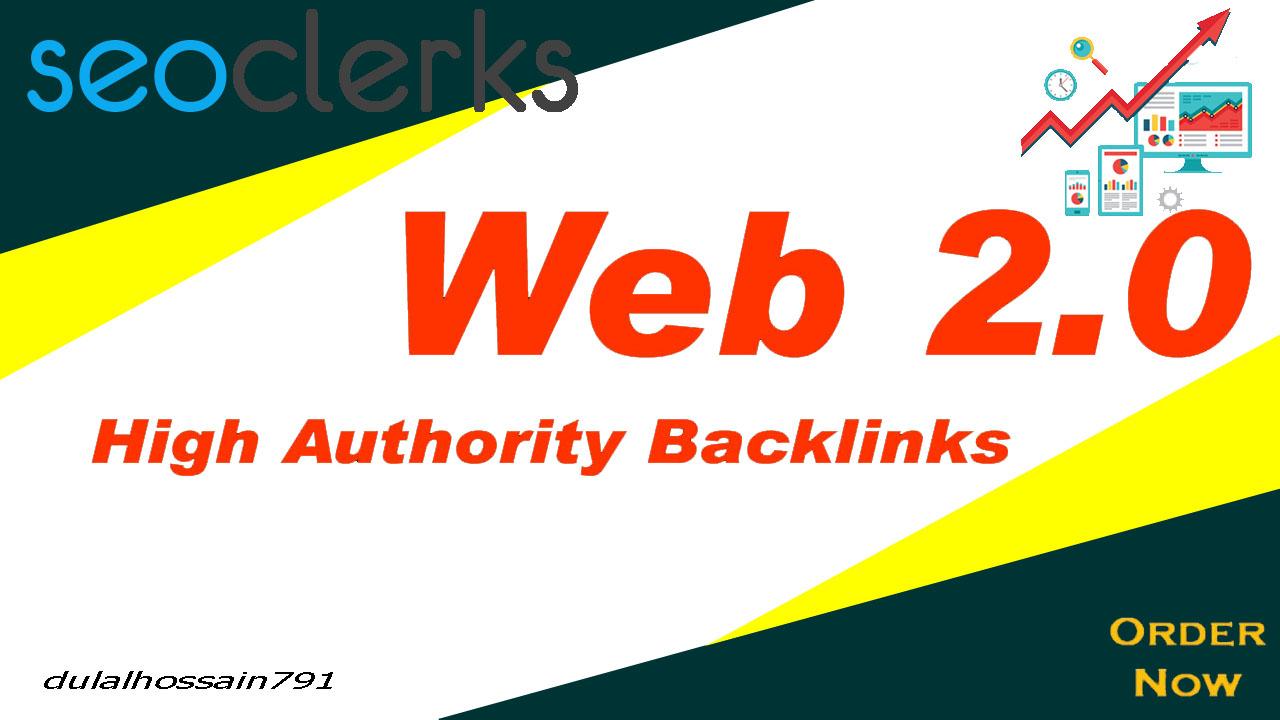 I will build 10 dofollow high authority web 2 0 backlinks