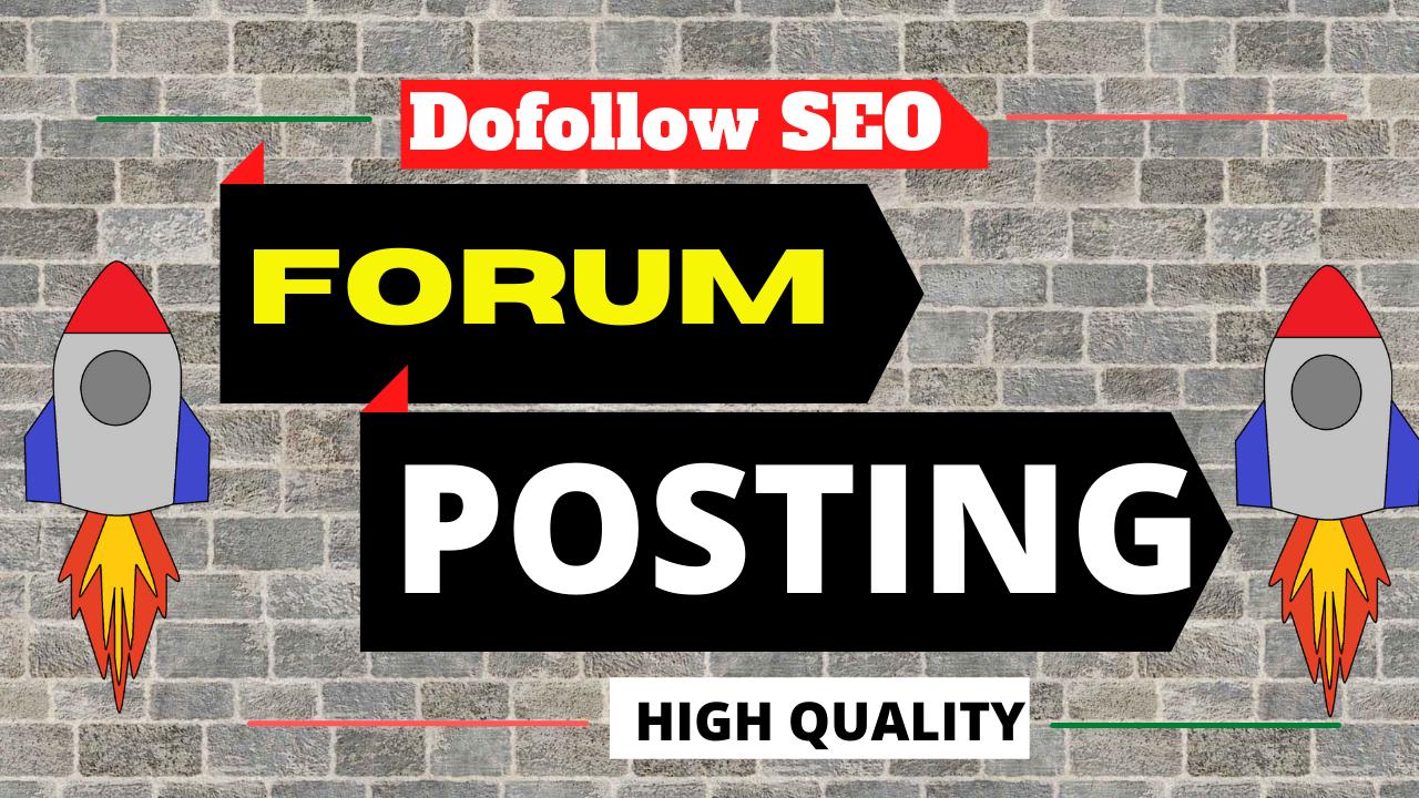 I will provide 20 forum posting backlinks