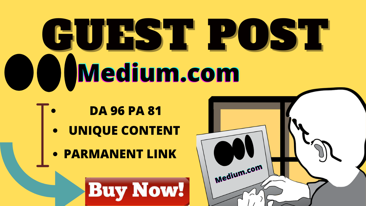 I will write and publish medium guest with permanent backlink