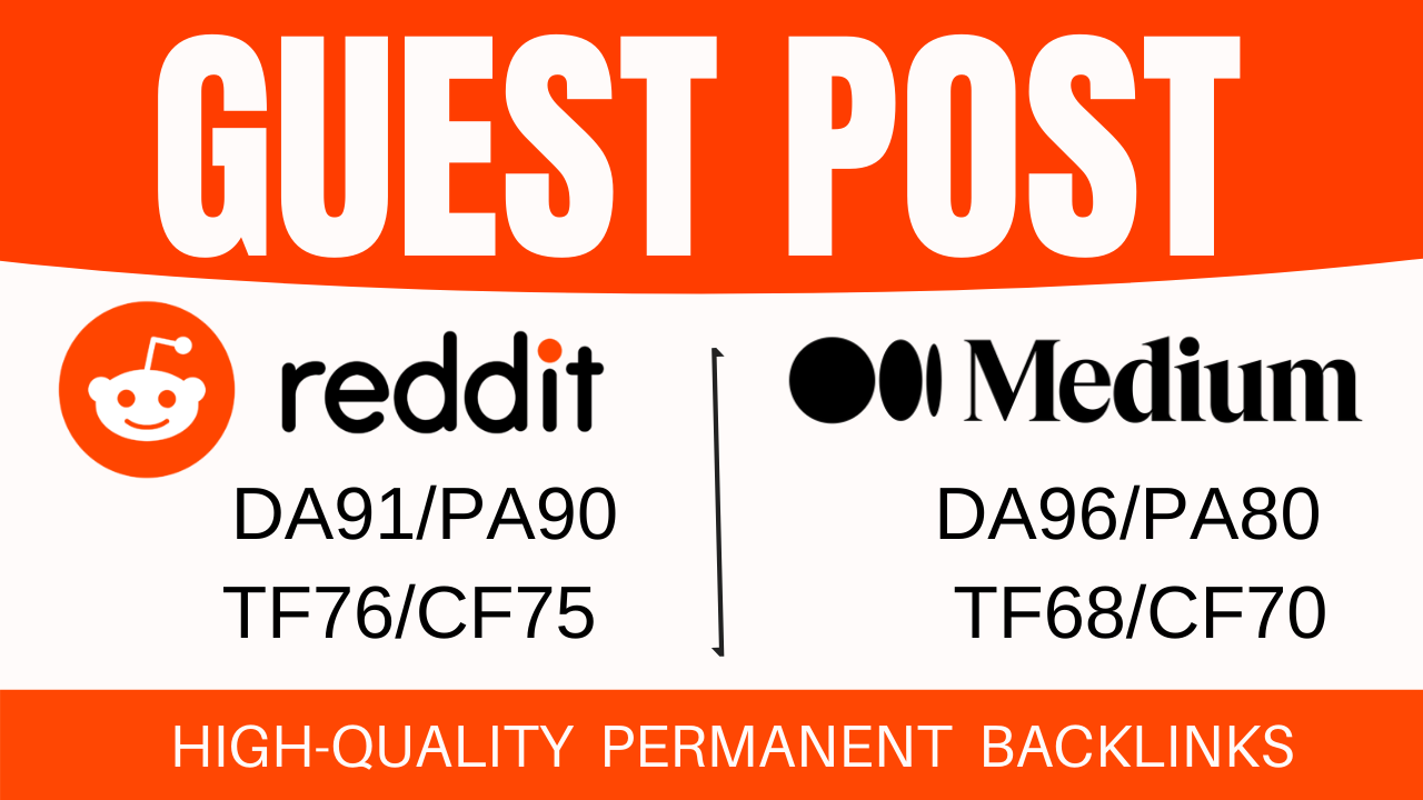 Indexable 2 High Authority Guest Post On Reddit And Medium
