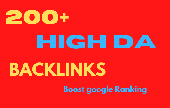 I will do 200+ SEO backlink for high link building.