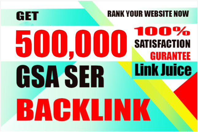 I will creat 400k high quality gsa backlinks for faster link juice