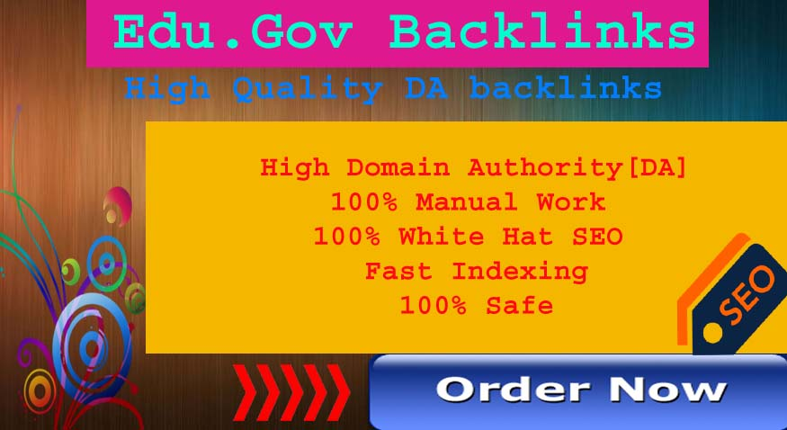 Do Manually 10 Backlinks From Edu. Gov Domain