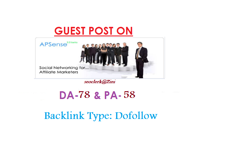 Able to publish Guest content on Apsense. com DA-78 Dofollow