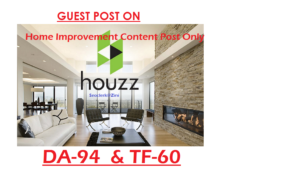 Able to publish Home Improvement Content on Houzz. com DA-90