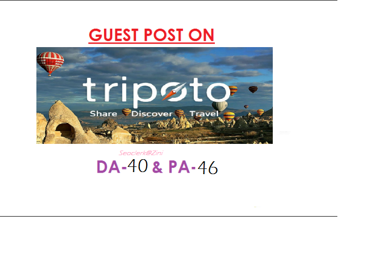 Able to publish travel content on Tripoto. com DA 40