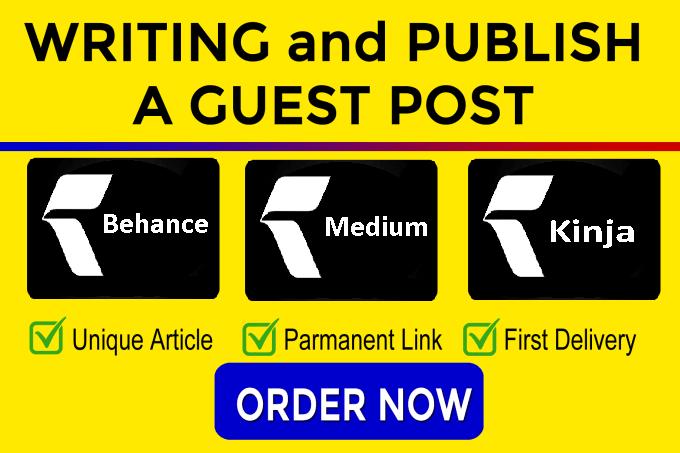 I will do 3 guest post on da 92 plus sites dofollow