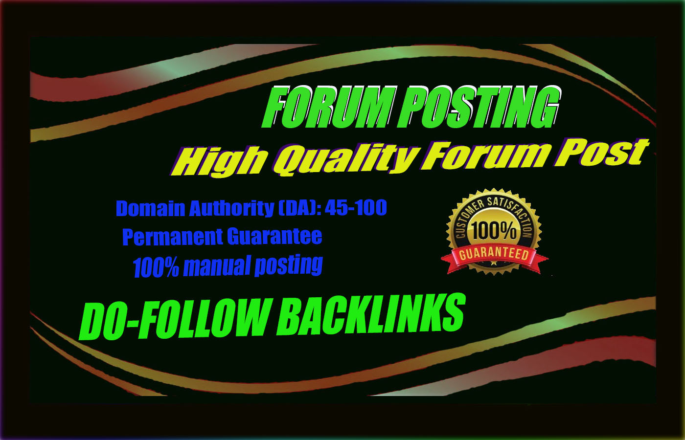 Provide 45 dof0llow forum posting backlinks vis -vis High DA Sites
