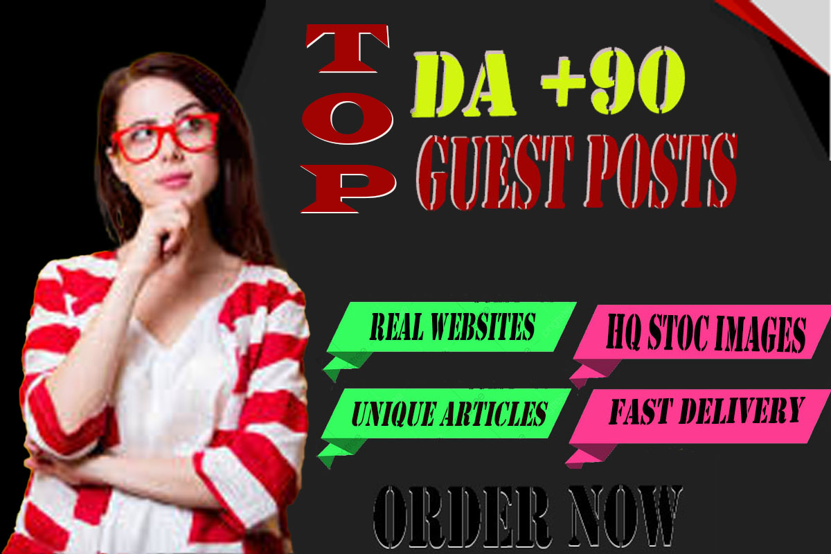I will publish high quality guest post on websites high domain authority da 99-60