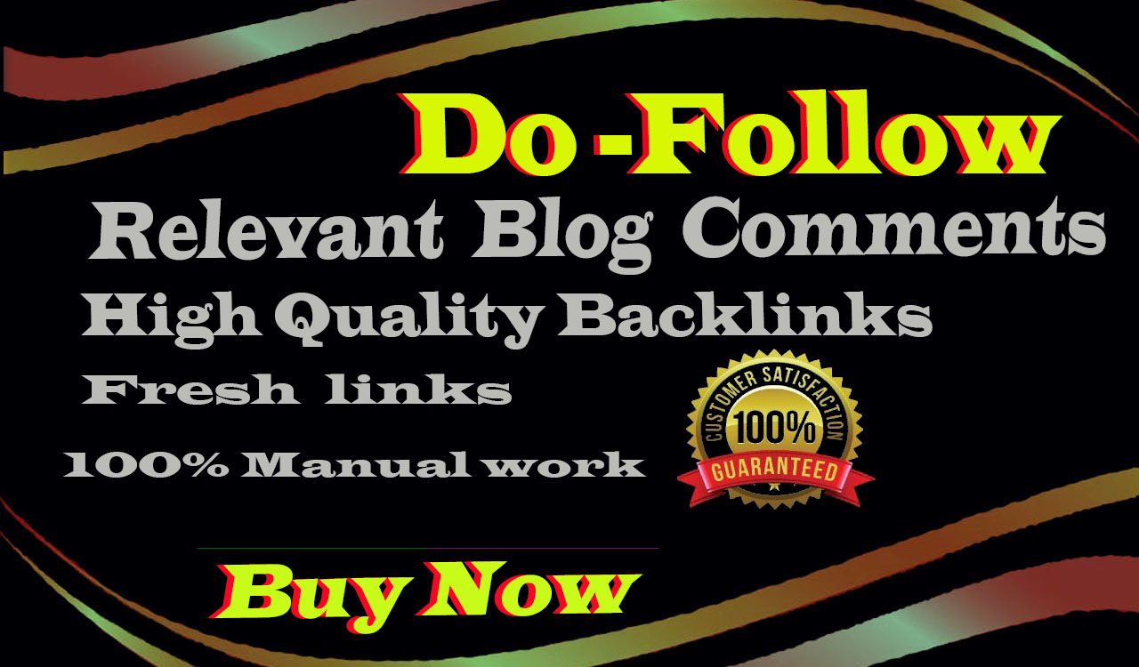 I Will Provide 90 Dofoll0w Blog Comments On High Authority DA PA Web Sites