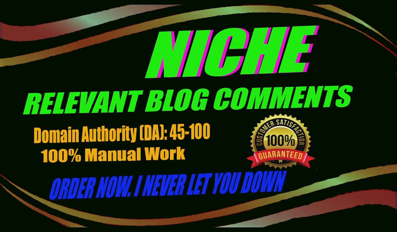 100 sentient 70+ backlinks Relevant to your Niche Bolgcomments