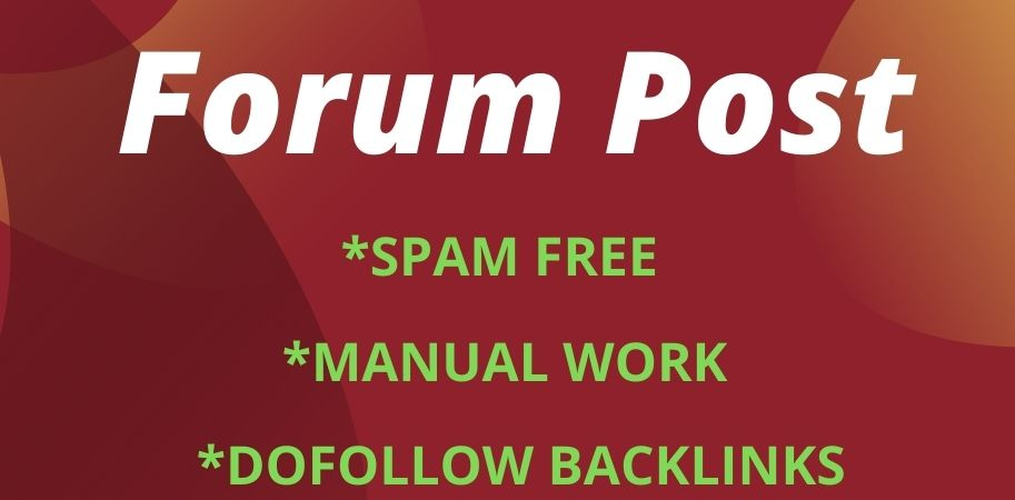 I will do 40 dofoll0w forum posting backlinks on High DA